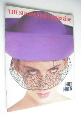 <!--1985-07-14-->The Sunday Times magazine - Hot Hats cover (14 July 1985)