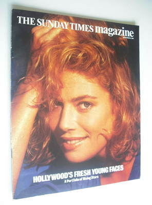 <!--1985-09-08-->The Sunday Times magazine - Kelly McGillis cover (8 Septem