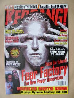 <!--1997-06-07-->Kerrang magazine - Fear Factory cover (7 June 1997 - Issue