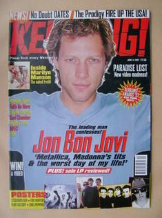 <!--1997-06-14-->Kerrang magazine - Jon Bon Jovi cover (14 June 1997 - Issu