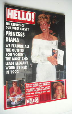 <!--1994-01-22-->Hello! magazine - Princess Diana cover (22 January 1994 -