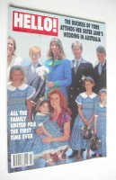 <!--1994-01-15-->Hello! magazine - The Duchess Of York and sister Jane cover (15 January 1994 - Issue 287)