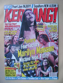 <!--1997-07-12-->Kerrang magazine - Marilyn Manson cover (12 July 1997 - Is