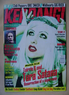 <!--1997-07-26-->Kerrang magazine - Tairrie B cover (26 July 1997 - Issue 6