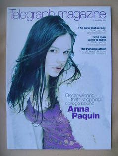 <!--1999-11-27-->Telegraph magazine - Anna Paquin cover (27 November 1999)