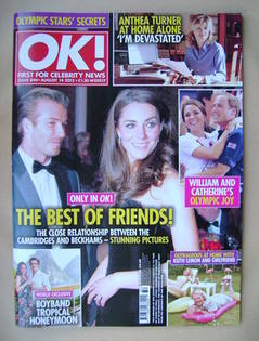 <!--2012-08-14-->OK! magazine - David Beckham and Kate Middleton cover (14