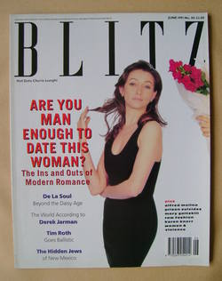 <!--1991-06-->Blitz magazine - June 1991 - Cherie Lunghi cover