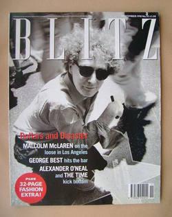 <!--1990-11-->Blitz magazine - November 1990 - Malcolm McLaren cover