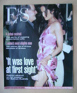 <!--2003-07-25-->Evening Standard magazine - Padma Lakshmi and Salman Rushd