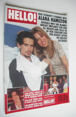 <!--1994-07-02-->Hello! magazine - Alana Hamilton and son Ashley cover (2 J