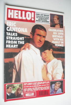 <!--1996-06-08-->Hello! magazine - Eric Cantona cover (8 June 1996 - Issue 410)