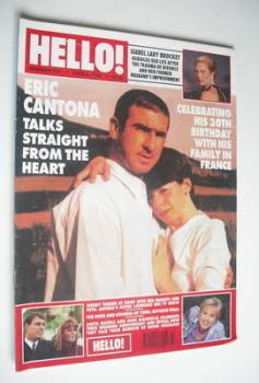 <!--1996-06-08-->Hello! magazine - Eric Cantona cover (8 June 1996 - Issue 410)
