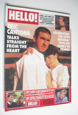 <!--1996-06-08-->Hello! magazine - Eric Cantona cover (8 June 1996 - Issue