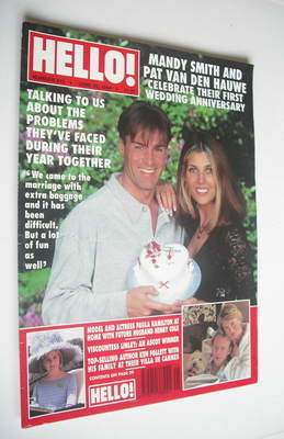 <!--1994-06-25-->Hello! magazine - Mandy Smith and Pat Van Den Hauwe cover