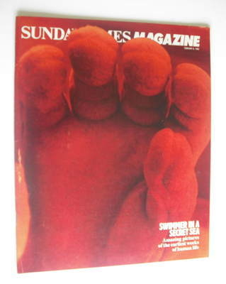 <!--1983-02-06-->The Sunday Times magazine - Swimmer In A Secret Sea cover