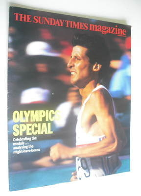 <!--1984-08-19-->The Sunday Times magazine - Sebastian Coe cover (19 August