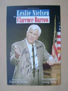 Leslie Nielsen autograph