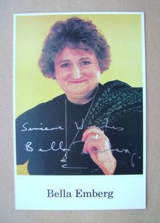 Bella Emberg autograph (hand-signed photograph)