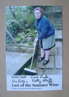 Kathy Staff autograph