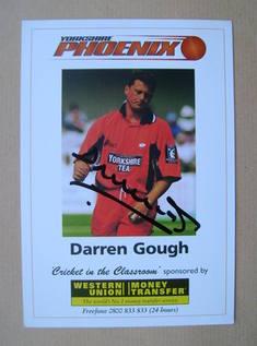 Darren Gough autograph