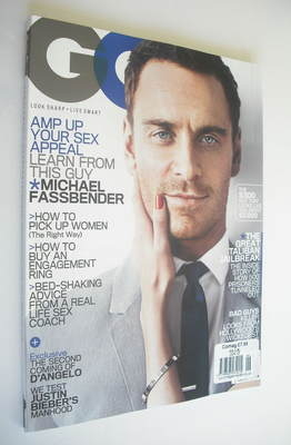<!--2012-06-->US GQ magazine - June 2012 - Michael Fassbender cover