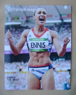 <!--2012-08-18-->Telegraph magazine - Jessica Ennis cover (18 August 2012)