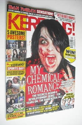 <!--2012-07-28-->Kerrang magazine - Gerard Way cover (28 July 2012 - Issue