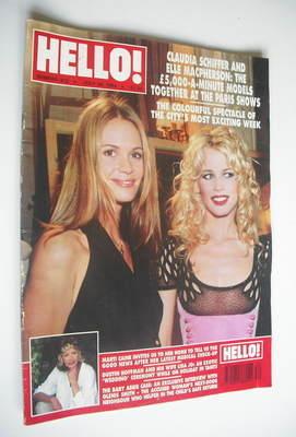 <!--1994-07-30-->Hello! magazine - Claudia Schiffer and Elle Macpherson cov