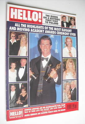 <!--1996-04-06-->Hello! magazine - Academy Awards cover (6 April 1996 - Iss