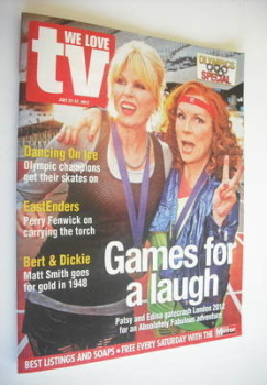 We Love Telly magazine - Jennifer Saunders and Joanna Lumley cover (21 July 2012)