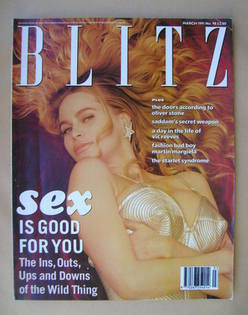 Blitz magazine - March 1991 - Christina Fulton cover
