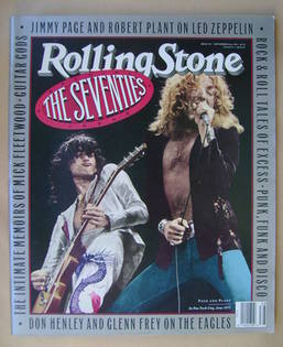 Rolling Stone magazine - Jimmy Page and Robert Plant cover (20 September 19