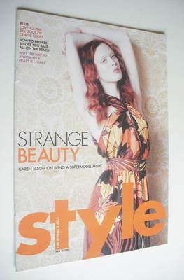 <!--2005-06-19-->Style magazine - Karen Elson cover (19 June 2005)