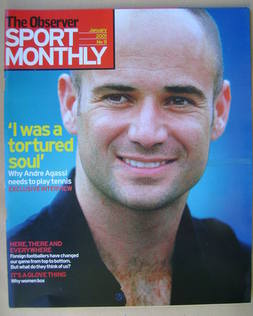 The Observer Sport Monthly magazine - Andre Agassi cover (January 2001)