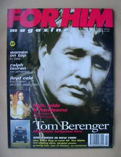 For Him magazine - Tom Berenger cover (October 1991)