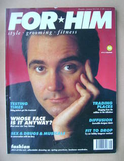 For Him magazine - Tony Slattery cover (December 1989/January 1990)