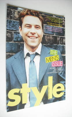<!--2005-02-20-->Style magazine - David Walliams cover (20 February 2005)