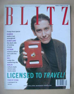 Blitz magazine - March 1990 - Jools Holland cover