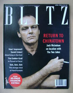 Blitz magazine - April 1990 - Jack Nicholson cover