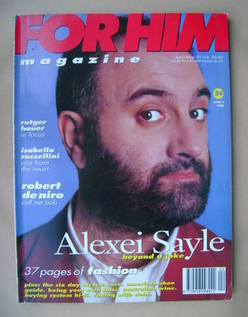 For Him magazine - Alexei Sayle cover (April/May 1991)