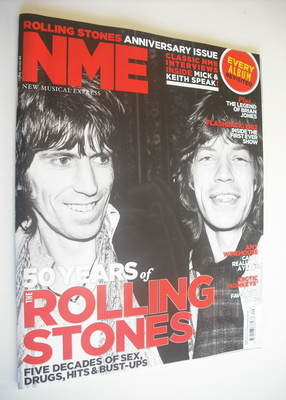 <!--2012-07-21-->NME magazine - Mick Jagger and Keith Richards cover (21 Ju