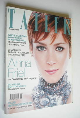 <!--1999-10-->Tatler magazine - October 1999 - Anna Friel cover