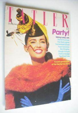 <!--1982-12-->Tatler magazine - December 1982/January 1983 - Marcie Hunt co