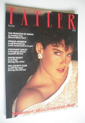 <!--1982-07-->Tatler magazine - July/August 1982 - The Hon Clare Beresford