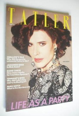 <!--1983-04-->Tatler magazine - April 1983 - Fanny Ardant cover