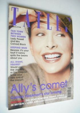 <!--1999-01-->Tatler magazine - January 1999 - Calista Flockhart cover