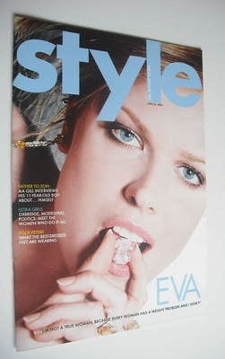 <!--2004-06-20-->Style magazine - Eva Herzigova cover (20 June 2004)