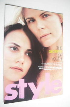 Style magazine - Mariel Hemingway and Langley Crisman cover (4 July 2004)