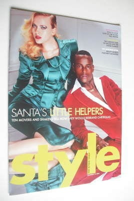 <!--2004-12-19-->Style magazine - Santa's Little Helpers cover (19 December