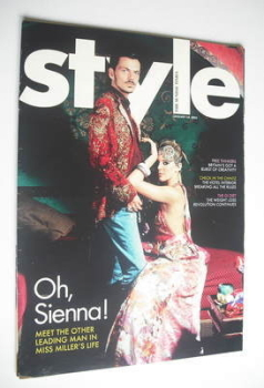 Style magazine - Sienna Miller and Matthew Williamson cover (16 January 2005)